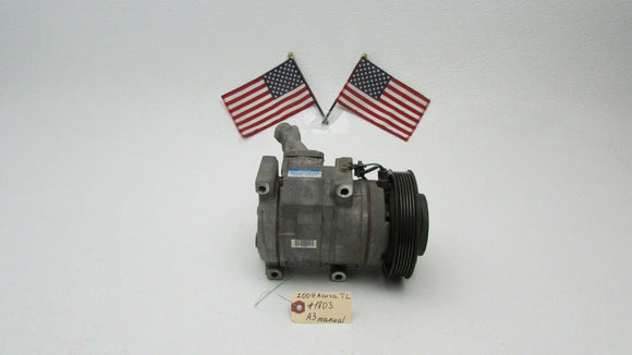 04 Acura TL Manual A/C Air Conditioning Compressor Pump W/ Clutch DENSO 2004 OEM