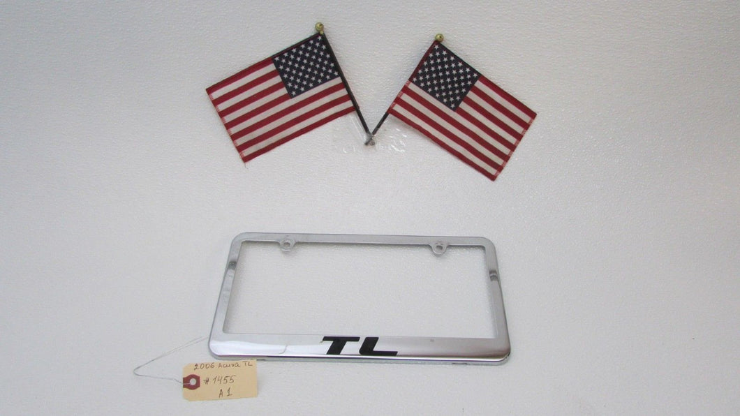 Acura TL CUSTOM LICENSE PLATE FRAME CHROME METAL OEM - Acura tl license plate frame