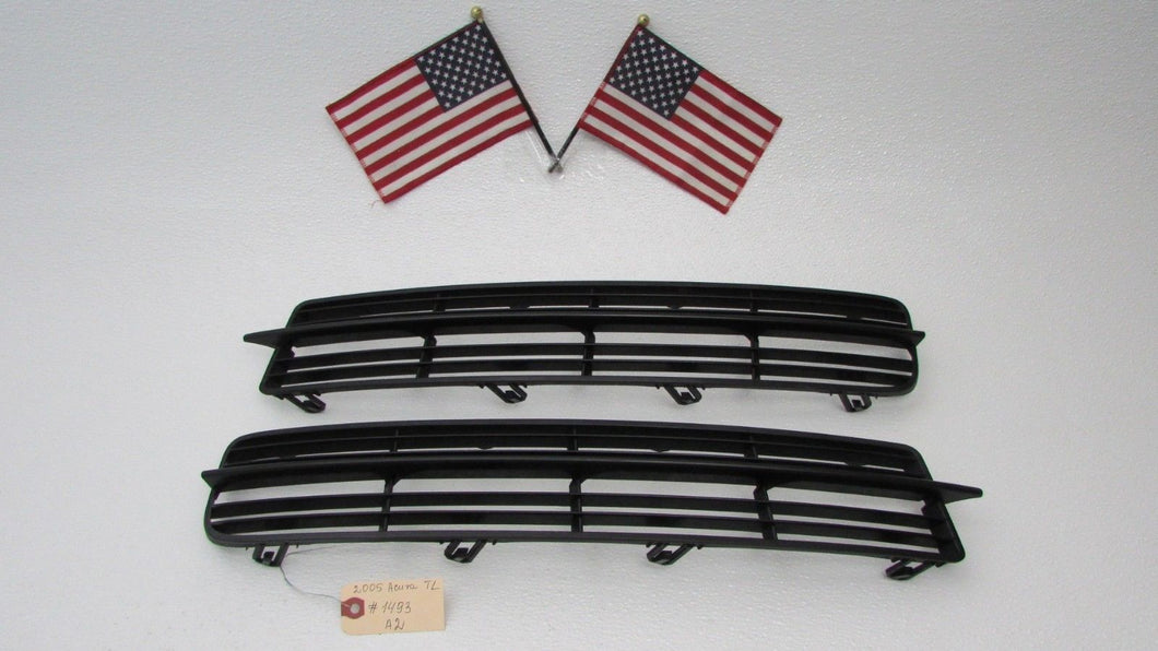 Acura TL FRONT BUMPER COVER LOWER LEFT RIGHT TRIM GRILLES - 2005 acura tl front bumper