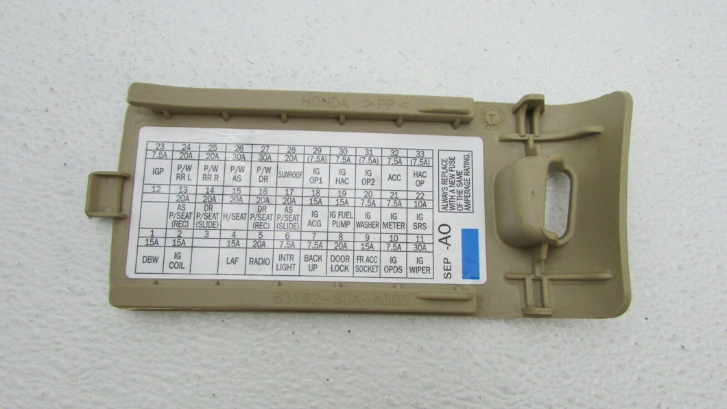 04 05 06 07 08 Acura TL Left Front Pull Fuse Box Door Cover ... Acura Tl Fuse Box Replacement on