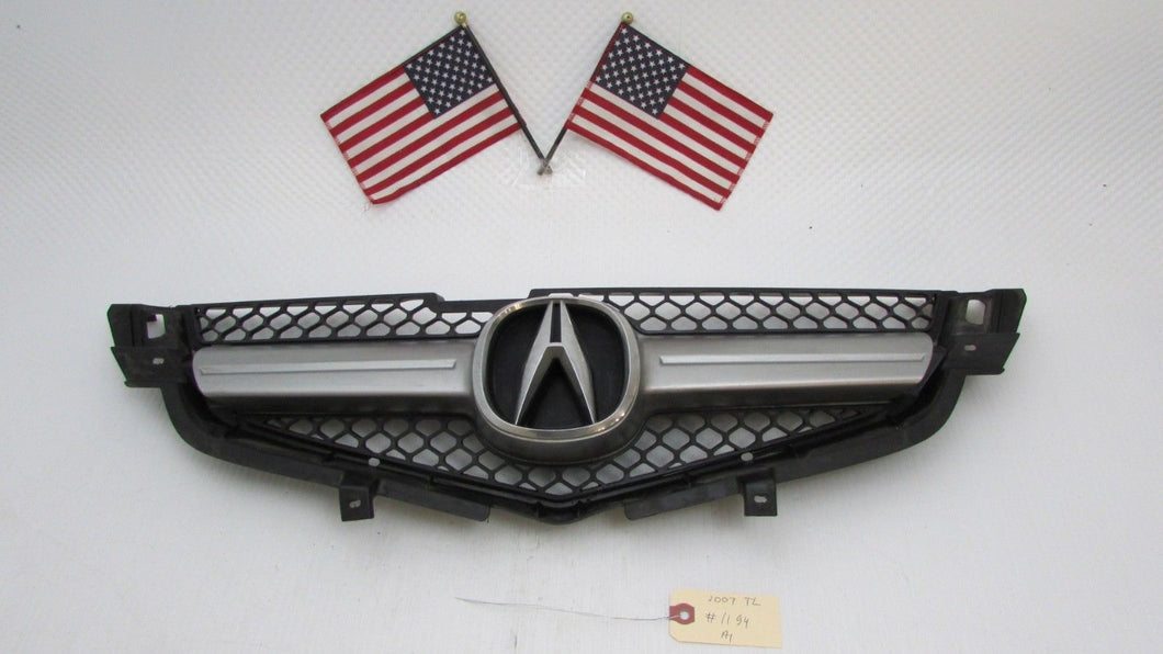 Acura TL FRONT BUMPER MESH GRILLE GRILL TRIM MOLDING W EMBLEM - 2007 acura tl front bumper