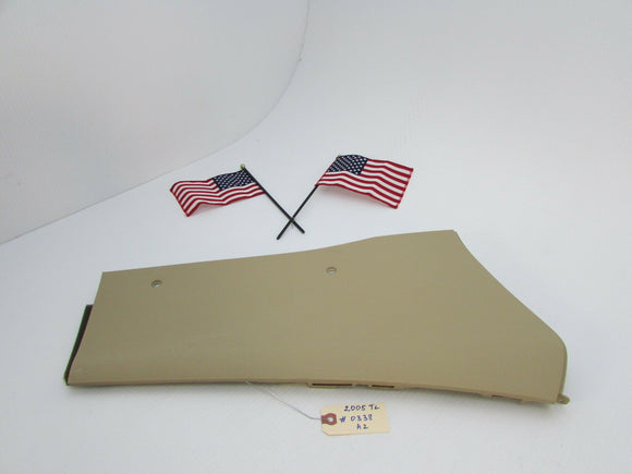 04 05 06 07 08 Acura TL CENTER CONSOLE RIGHT BASE SIDE COVER TRIM TAN OEM