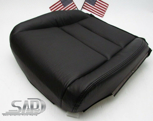 For 04 Acura TL Driver LT Seat Bottom Replacement Cover Perforated PU Leather