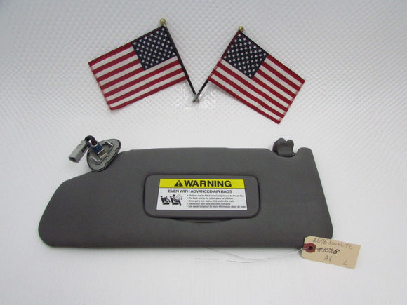 04 05 06 07 08 Acura TL Left Driver Side Sun Visor Flap Shade Sunvisor Gray OEM