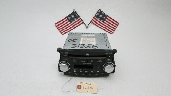 04 05 06 ACURA TL 6 STEREO CD PLAYER CHANGER CASSETTE XM RADIO With Code OEM