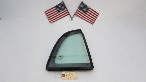 04 05 06 07 08 Acura TL Right Rear Passenger Side Corner Vent Glass Window OEM