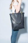 Melissa Large Shoulder Bag: Black