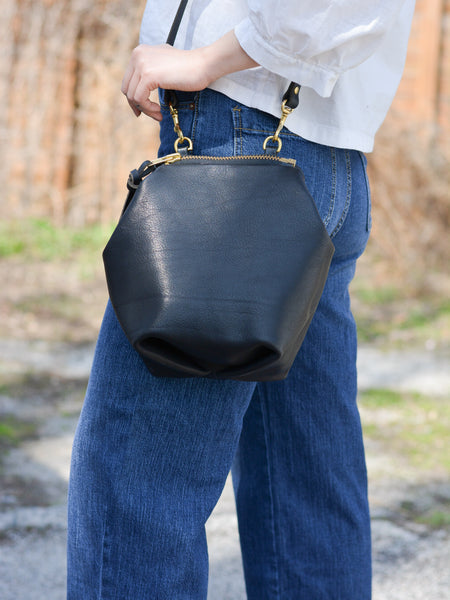 Alice Mini Shoulder Bag: Black