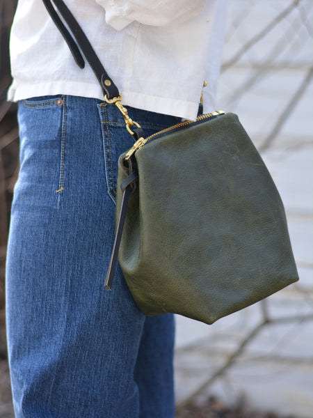 Alice Mini Shoulder Bag: Olive