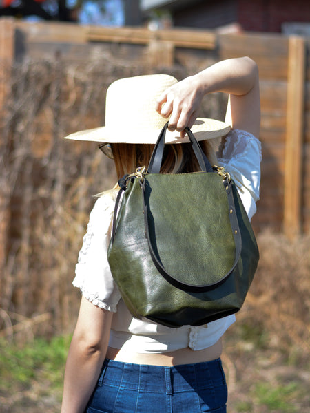 Alice Large Shoulder Bag: Olive