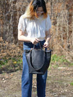 Alice Large Shoulder Bag: Black