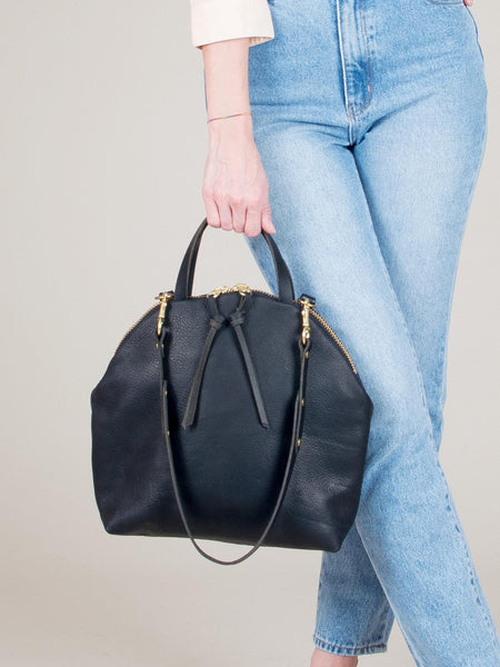 Anni Large Shoulder Bag: Black