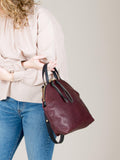 Anni Large Shoulder Bag: Bordeaux