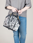 Anni Large Shoulder Bag: Salt + Pepper Black