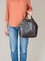 Anni Large Shoulder Bag: Steel