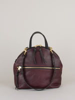 Anni Large Shoulder Bag: Bordeaux Front Zip
