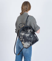 Anni Large Backpack: Salt + Pepper Black