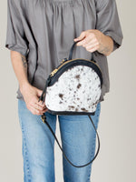 Anni Mini Shoulder Bag: Salt + Pepper