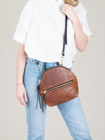 Anni Mini Shoulder Bag: Bronze Front Zip