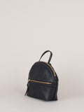 Anni Mini Shoulder Bag: Black Front Zip