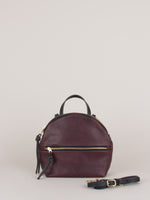 Anni Mini Shoulder Bag: Bordeaux Front Zip