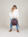 Anni Large Backpack: Bordeaux Front Zip