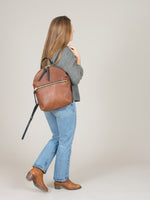 Anni Large Backpack: Bronze Front Zip