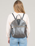 Anni Large Backpack: Steel Front Zip
