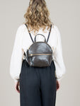 Anni Mini Backpack: Steel Front Zip