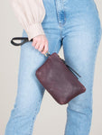Hanna Mini Clutch: Bordeaux