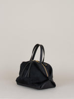 Katie Large Shoulder Bag: Black Fur