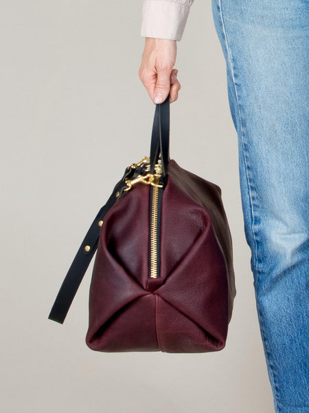 Katie XL Shoulder Bag: Bordeaux