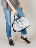 Katie XL Shoulder Bag: Salt + Pepper Black