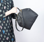 Anni Large Black Ostrich Embossed