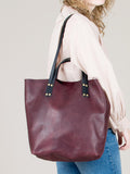 Romy Tote Bag: Bordeaux