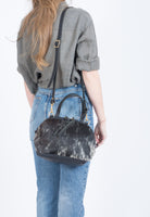 Katie Large Shoulder Bag : Salt + Pepper Black