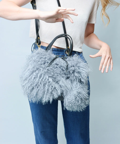 Katie Large Shoulder Bag: Mongolian Blue
