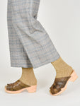 Run Pony Pony: Woven Clogs - Olive