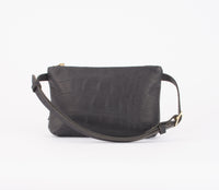 Amada Fanny Pack: Black Croc Embossed