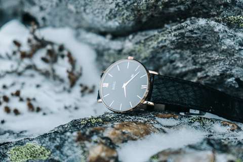 BERG watches ulriken salmon leather watch strap