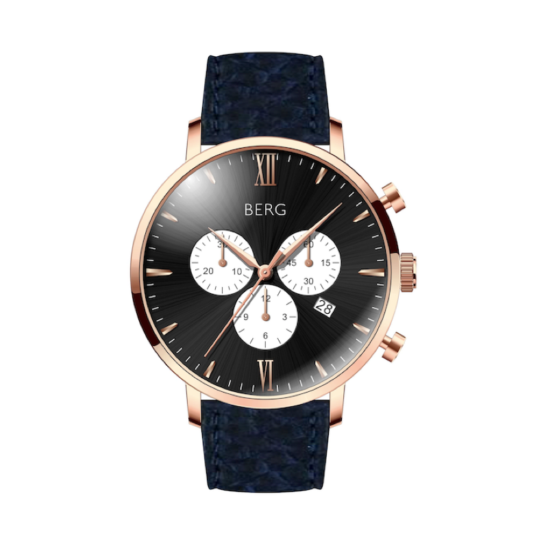 BIRKEBEINER 42 MM BLACK ROSE GOLD