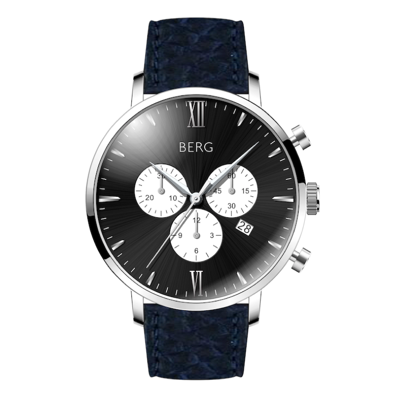 BIRKEBEINER 42 MM BLACK SILVER