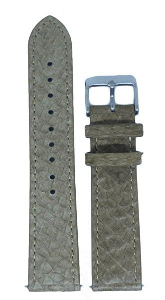 Berg Watches 16 MM Strap Beige Silver 16 MM Salmon Leather Strap