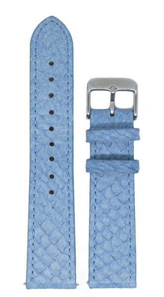 Berg Watches 16 MM Strap Light Blue Silver 16 MM Salmon Leather Strap