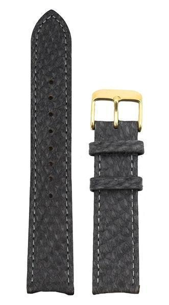 bergwatches 16 MM Strap Grey Gold 16 MM Salmon Leather Strap
