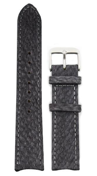 bergwatches 16 MM Strap Grey Silver 16 MM Salmon Leather Strap