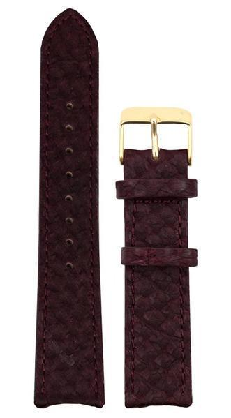 bergwatches 16 MM Strap Oxblood Red Gold 16 MM Salmon Leather Strap