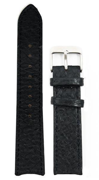 bergwatches 20 MM Strap Black Silver 20 MM Salmon Leather Strap