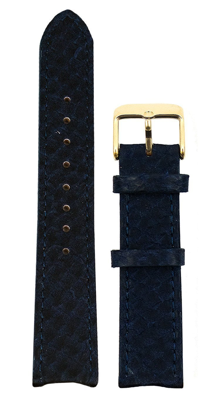 bergwatches 20 MM Strap Blue Gold 20 MM Salmon Leather Strap