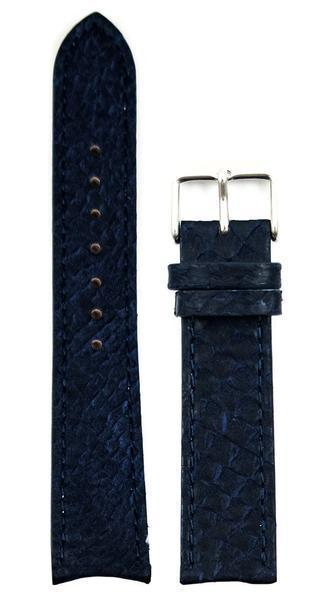 bergwatches 20 MM Strap Blue Silver 16 MM Salmon Leather Strap